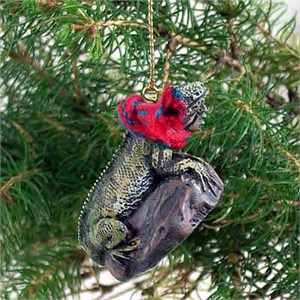 Iguana Tiny One Christmas Ornament