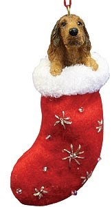 Irish Setter Christmas Stocking Ornament