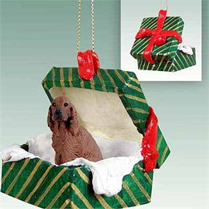 Irish Setter Gift Box Christmas Ornament