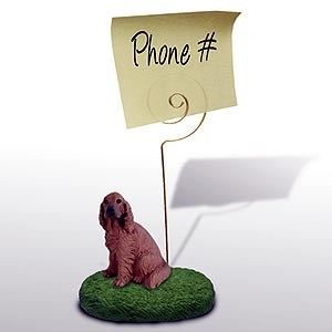 Irish Setter Note Holder