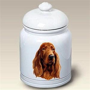 Irish Setter Treat Jar