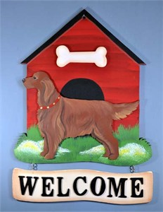 Irish Setter Welcome Sign