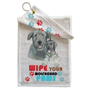 Irish Wolfhound Paw Wipe Towel