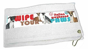 Italian Greyhound Paw Wipe Towel