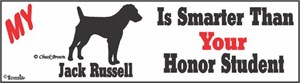 Jack Russell Bumper Sticker Honor Student