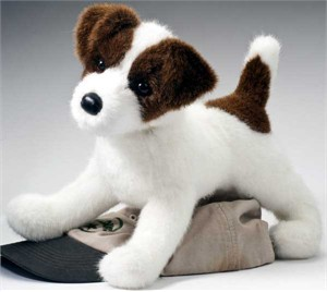 Jack Russell Terrier Plush Stuffed Animal 16 Inch