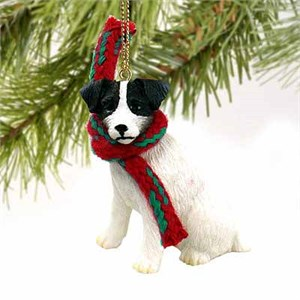 Jack Russell Terrier Tiny One Christmas Ornament Black-White