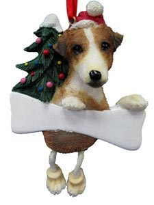 Jack Russell Terrier Christmas Tree Ornament - Personalize