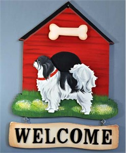 Japanese Chin Welcome Sign