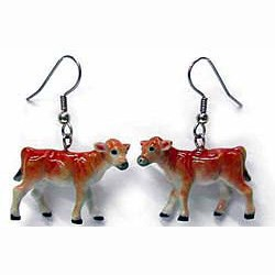 Jersey Cow Earrings True to Life