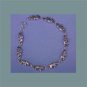 Sterling Silver Elephant Bracelet