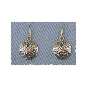Sand Dollar Earrings Sterling Silver