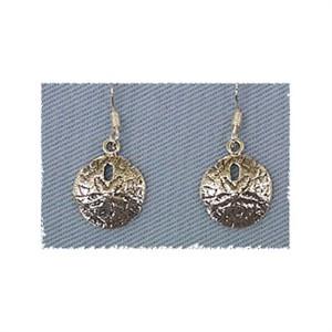 Sand Dollar Earrings Sterling Silver
