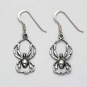 Spider Earrings Sterling Silver