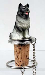 Keeshond Bottle Stopper