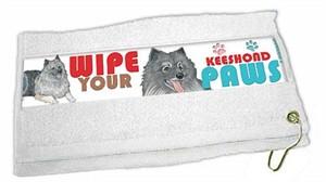 Keeshond Paw Wipe Towel