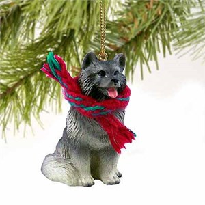 Keeshond Tiny One Christmas Ornament