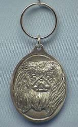Pewter Pekingese Keychain