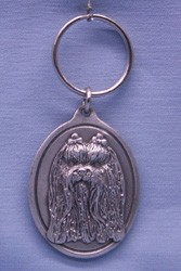 Yorkshire Terrier Pewter Keychain
