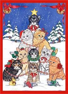 Kitty Tree Christmas Cards