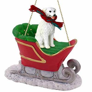 Kuvasz Sleigh Ride Christmas Ornament