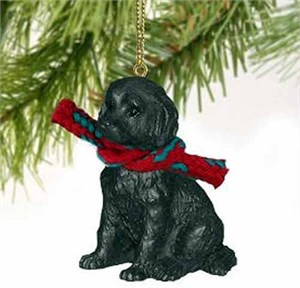 Labradoodle Tiny One Christmas Ornament Black