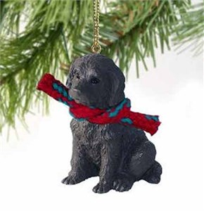 Labradoodle Tiny One Christmas Ornament Chocolate