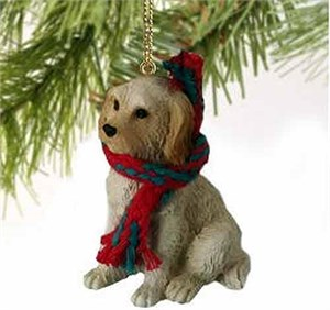 Labradoodle Tiny One Christmas Ornament Cream-Blonde