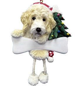 Labradoodle Christmas Tree Ornament - Personalize