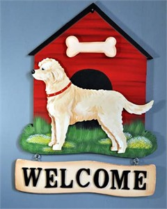 Labradoodle Welcome Sign