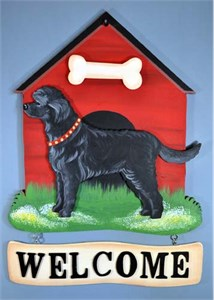 Labradoodle Welcome Sign Black