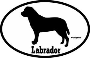 Labrador Bumper Sticker Euro