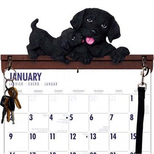 Black Lab Calendar Caddy