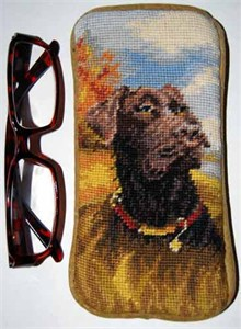 Chocolate Lab Eyeglass Case