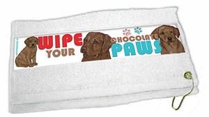 Chocolate Lab Paw Wipe Towel