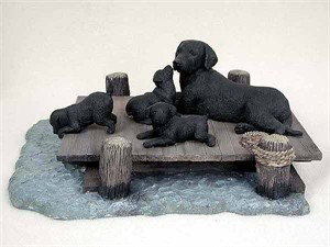 Labrador Retriever Figurine Mom & Pups