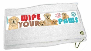 Yellow Lab Paw Wipe Towel