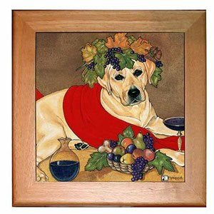 Yellow Lab Trivet