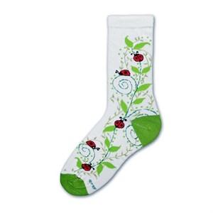 Ladybug Swirl Socks