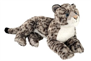 Sitting Snow Leopard Plush Stuffed Animal 15""