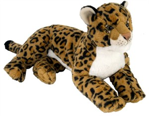 Laydown Leopard Plush Stuffed Animal 18.5""