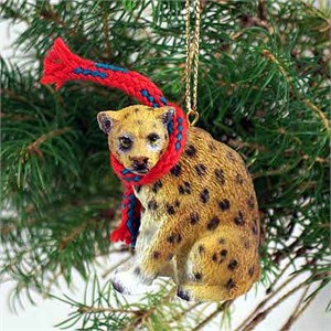 Leopard Tiny One Christmas Ornament