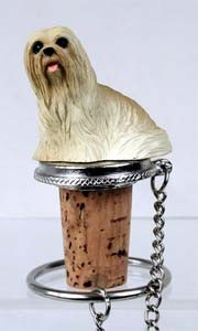 Lhasa Apso Bottle Stopper (Blonde)