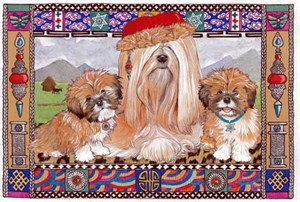 Lhasa Apso Christmas Cards