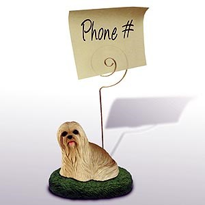 Lhasa Apso Note Holder (Blonde)
