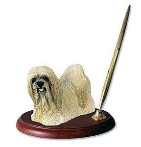 Lhasa Apso Pen Holder (Blonde)