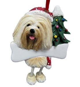 Lhasa Apso Christmas Tree Ornament - Personalize