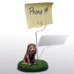 Lion Note Holder
