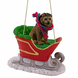 Lion Sleigh Ride Christmas Ornament