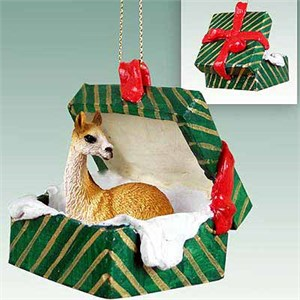 Llama Gift Box Christmas Ornament